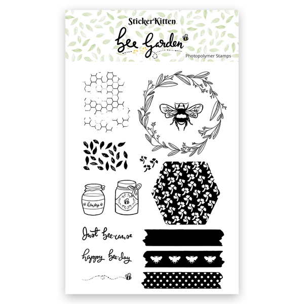 Bee Garden Photopolymer Stamps