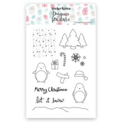 Penguins and Presents Photopolymer Stamps