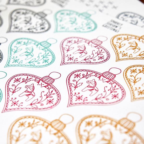Dala Horse Bauble Stamp Pack - Baubles