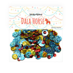 Dala Horse Sparkly Sequins