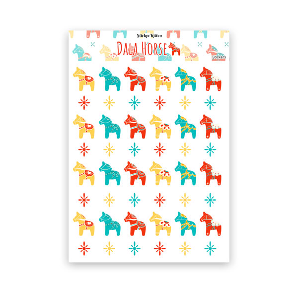 Dala Horse Stickers