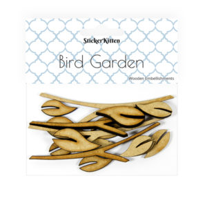 Bird Garden Wooden Leaves and Branches