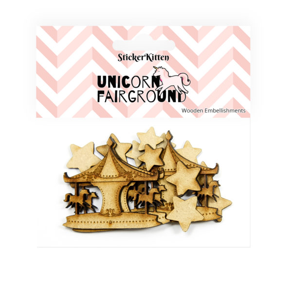 Unicorn Fairground Wooden Carousels and Stars