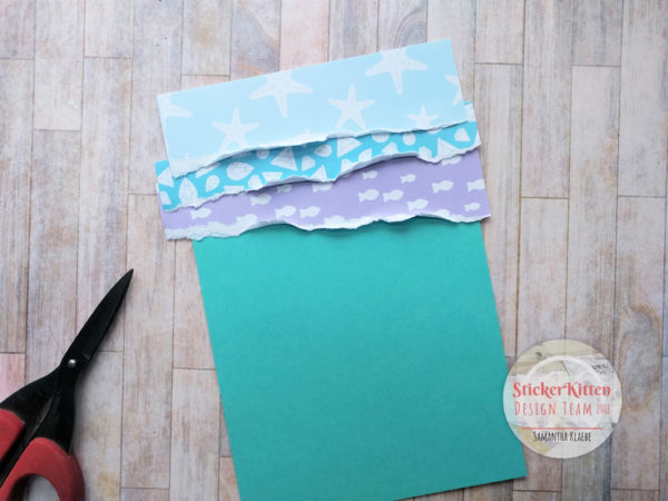 StickerKitten Mermaid Treasures paper tearing tutorial