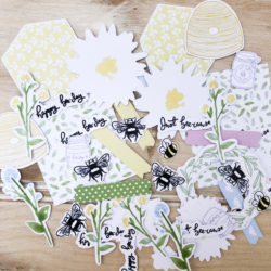 Bee Garden Die-Cut Ephemera