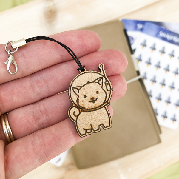 Space Dog Planner Charm